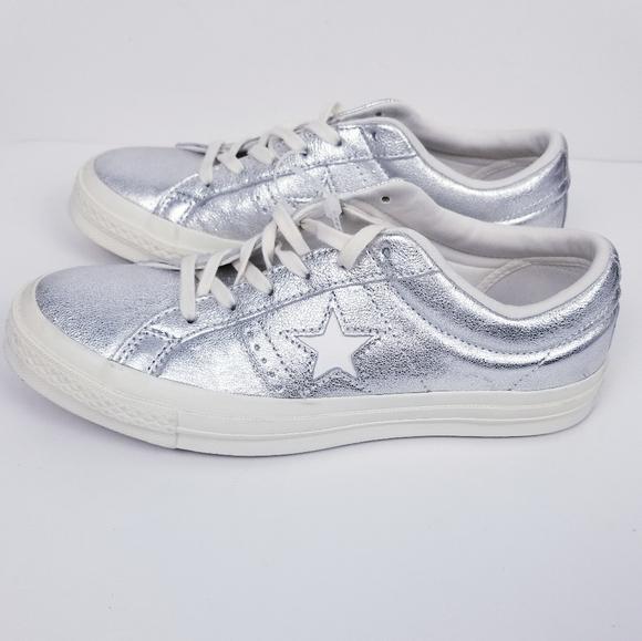 Star Metallic Silver Sneakers   Poshmark
